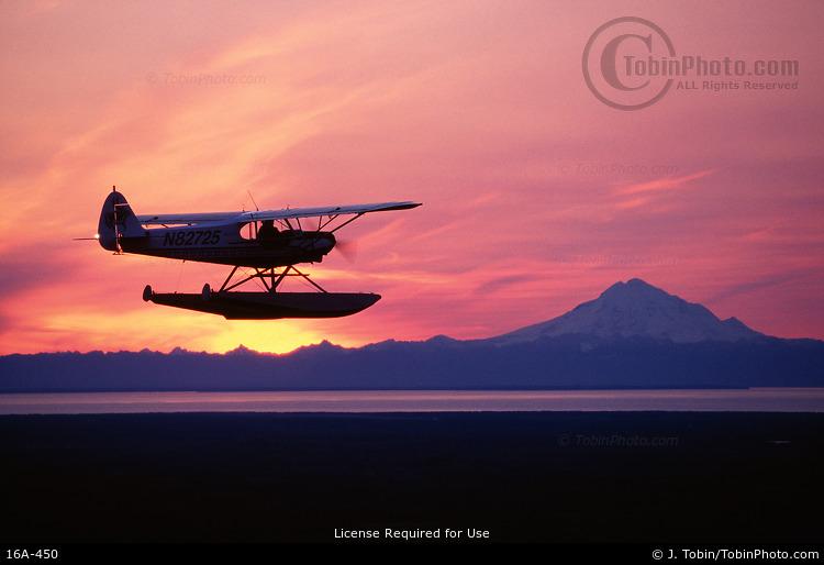 Float Plane at Sunset