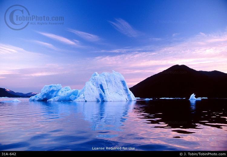 Iceberg & Mountain Reflection