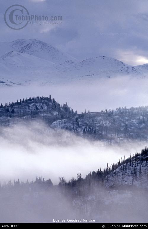 Alaska Winter Mountains