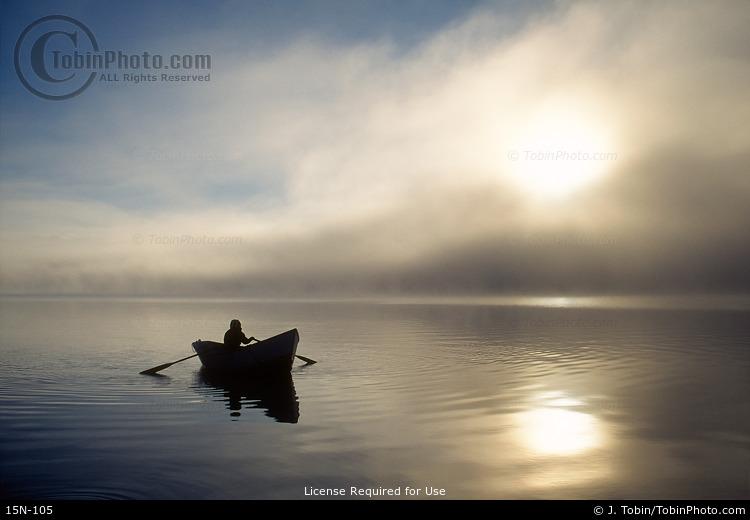 Boat & Breaking Fog