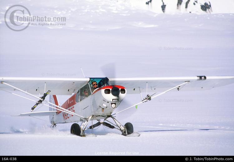 Bush Plane on Glacier