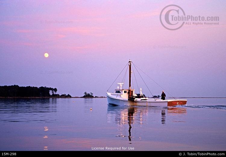 Fishing Boat & Moon