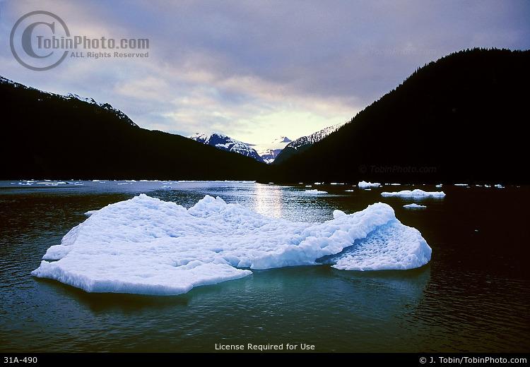 Icebergs & Mountains
