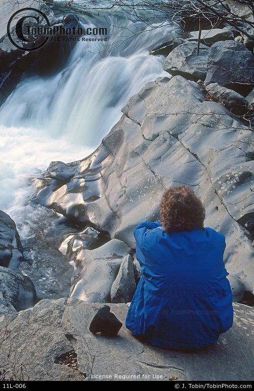 Woman Viewing Waterfall